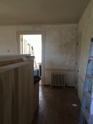 New kitchen (view from foyer entrance)