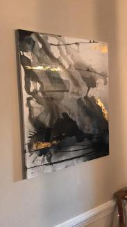 Black & gold artwork $145 for one